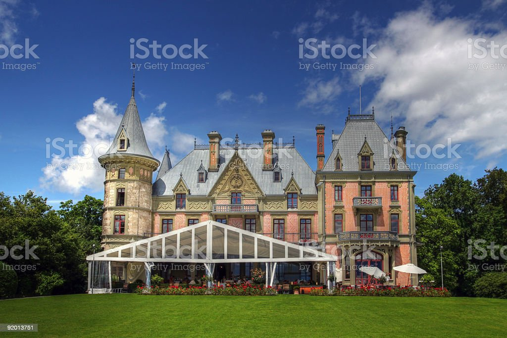 Schloss Schadau, Thun, Switzerland  Architecture Stock Photo