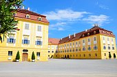 Schlosshof, Austria - June 10, 2016: Schloss Hof castle in Lower Austria
