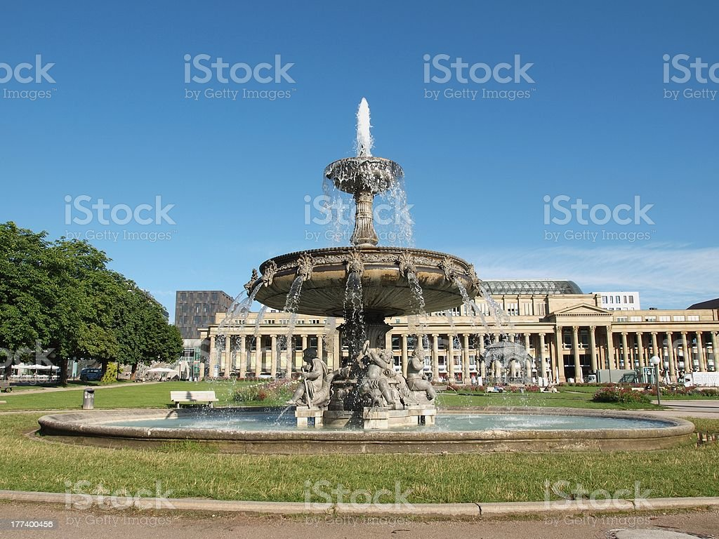 Schlossplatz (Castle square) Stuttgart stock photo