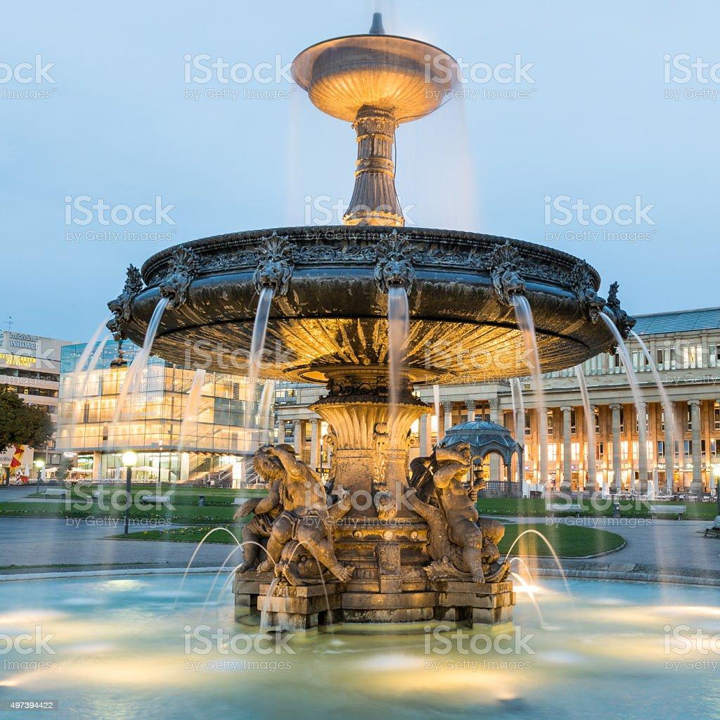Schlossplatz Stuttgart stock photo