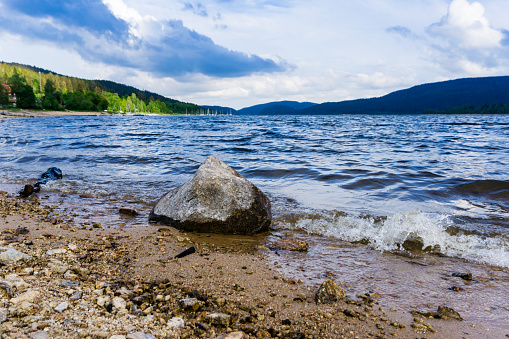 Schluchsee in the Black Forest in Baden-Wurttemberg Germany