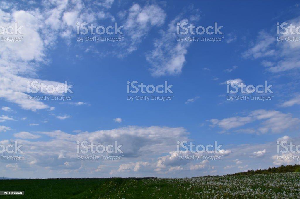 Schön Wetter Wolken royaltyfri bildbanksbilder