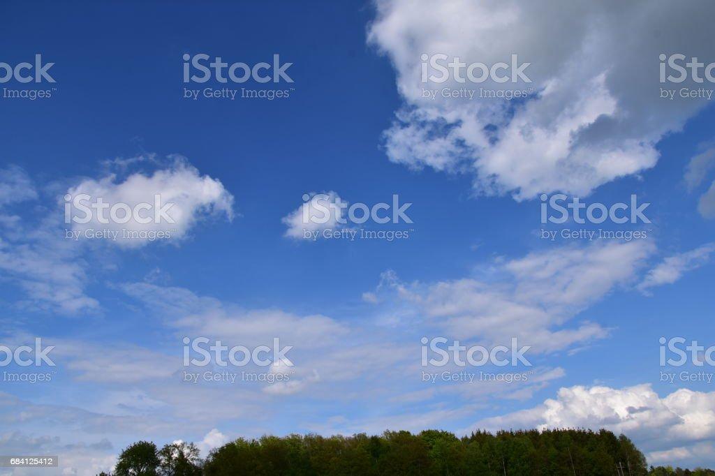 Schön Wetter Wolken zbiór zdjęć royalty-free