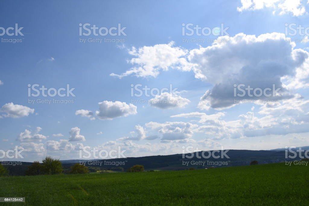 Schön Wetter Wolken royalty free stockfoto