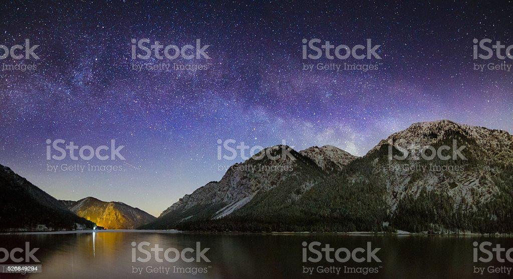 Schneebedeckte Berge stock photo