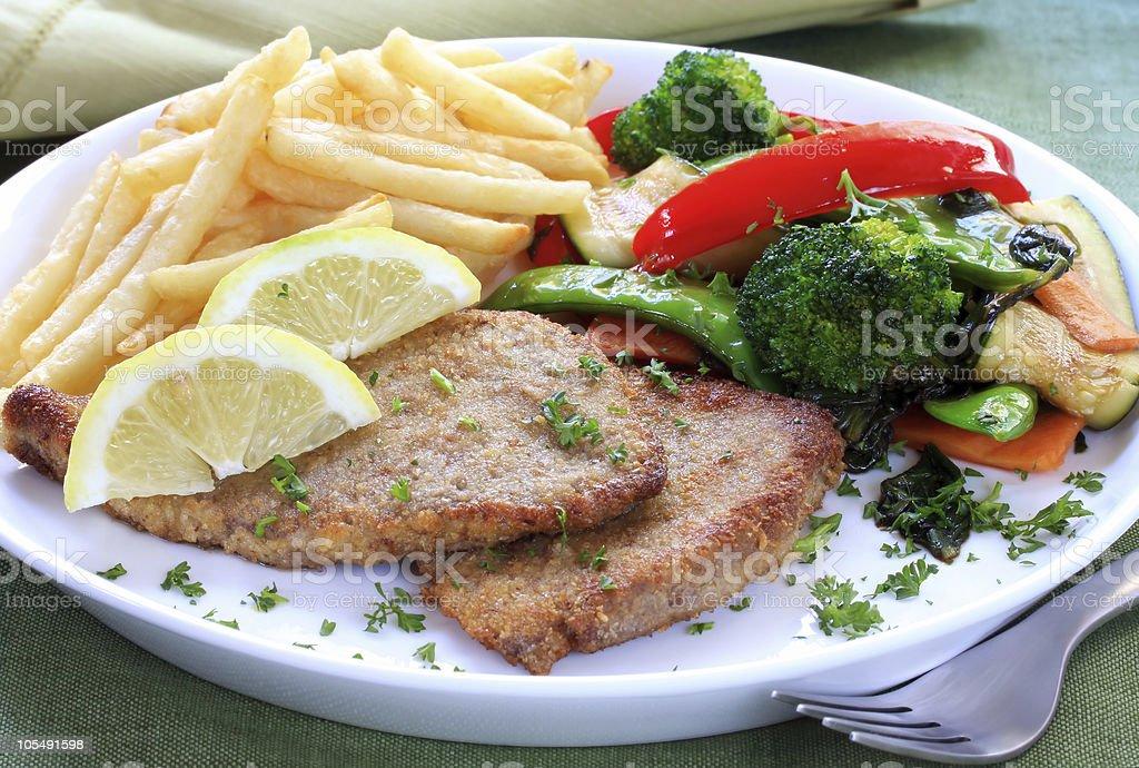 Schnitzel stock photo