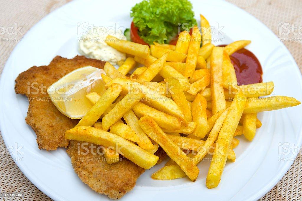 Schnitzel royalty-free stock photo