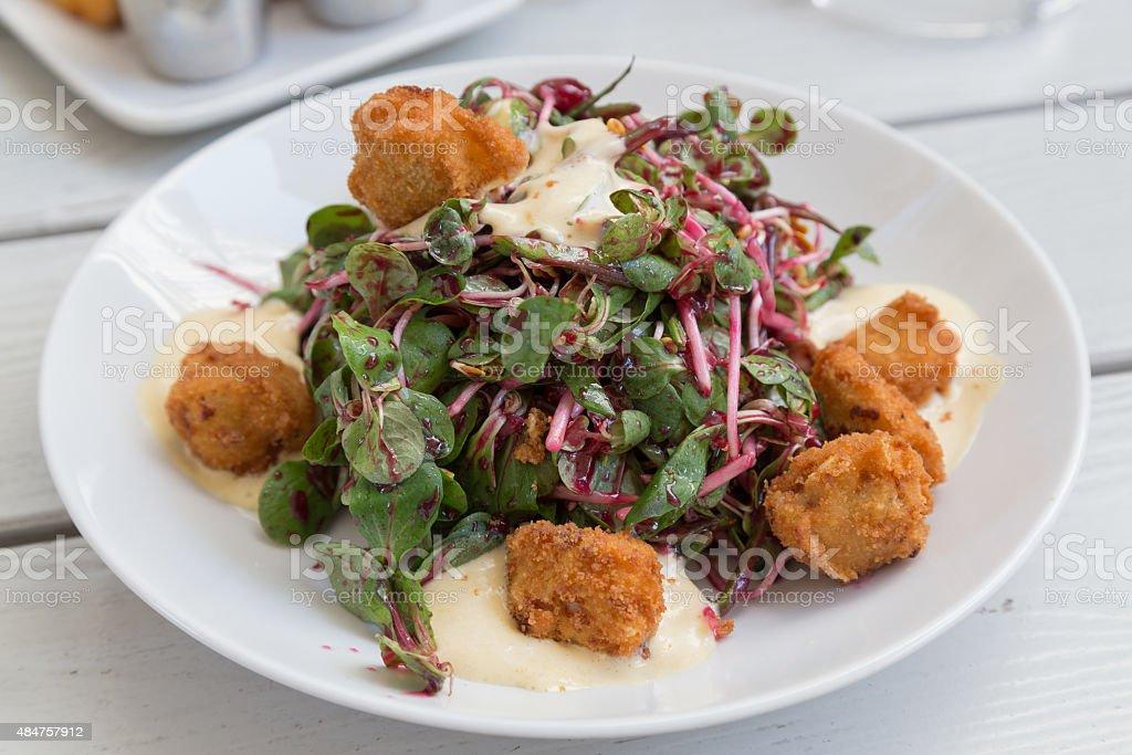 Schnitzel Salad stock photo