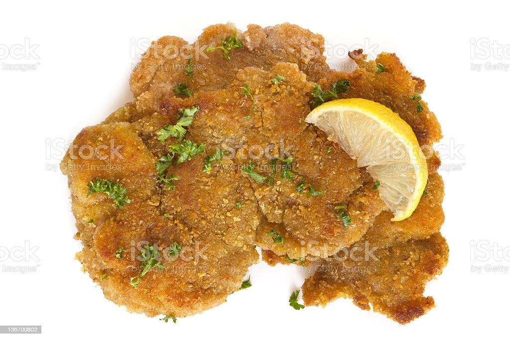 Schnitzel with Lemon stock photo