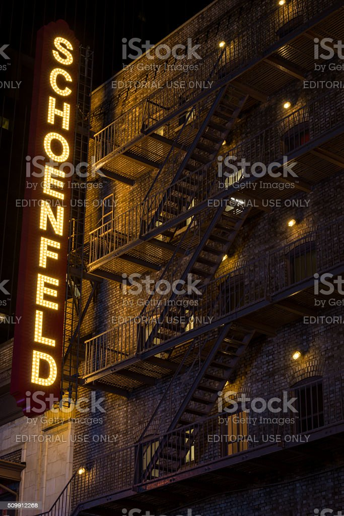 Schoenfeld Theater stock photo