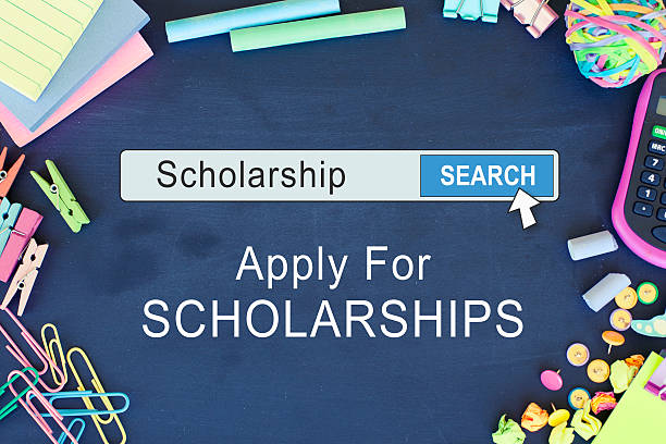 Scholarship application stock photo