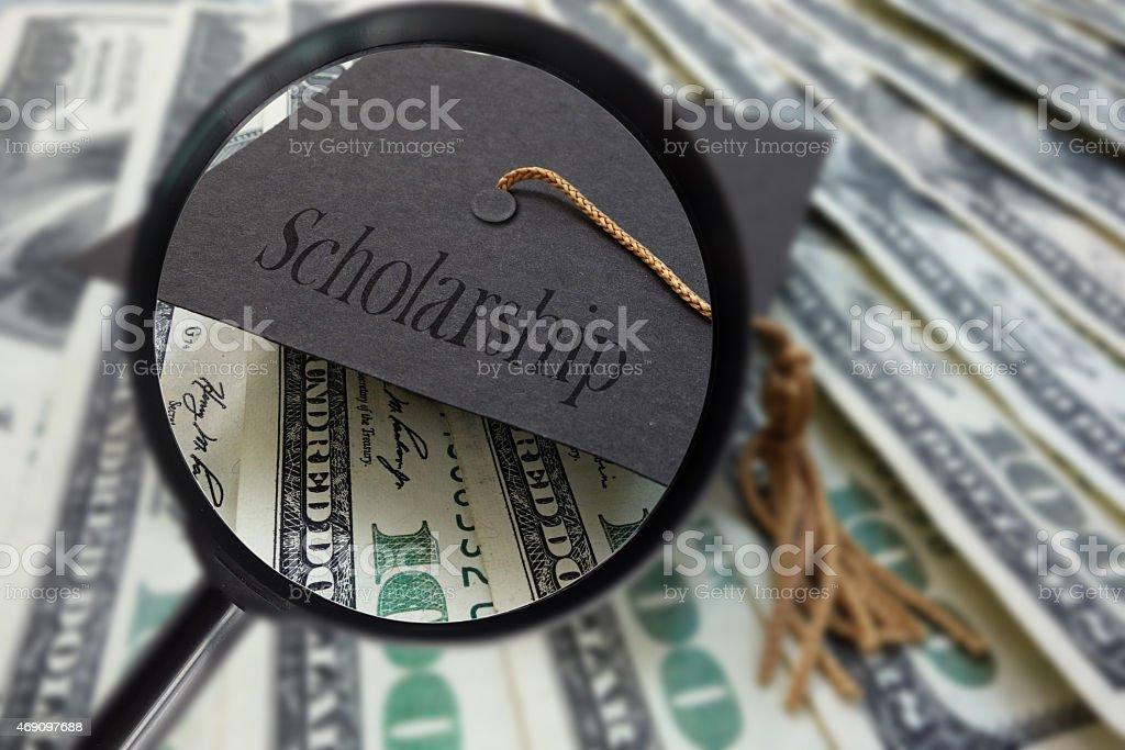 Scholarship money search stock photo