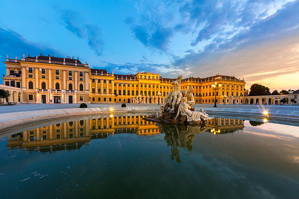 schonbrunn palace - vienna stock photos and pictures