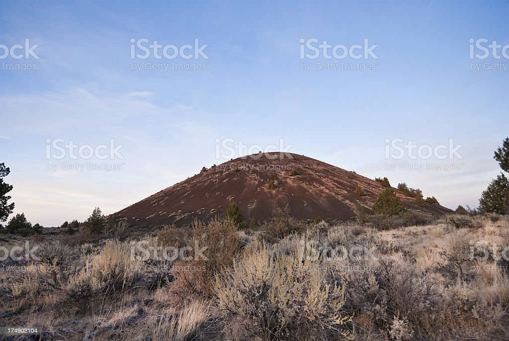 Schonchin Butte at Sunset royalty-free stock photo