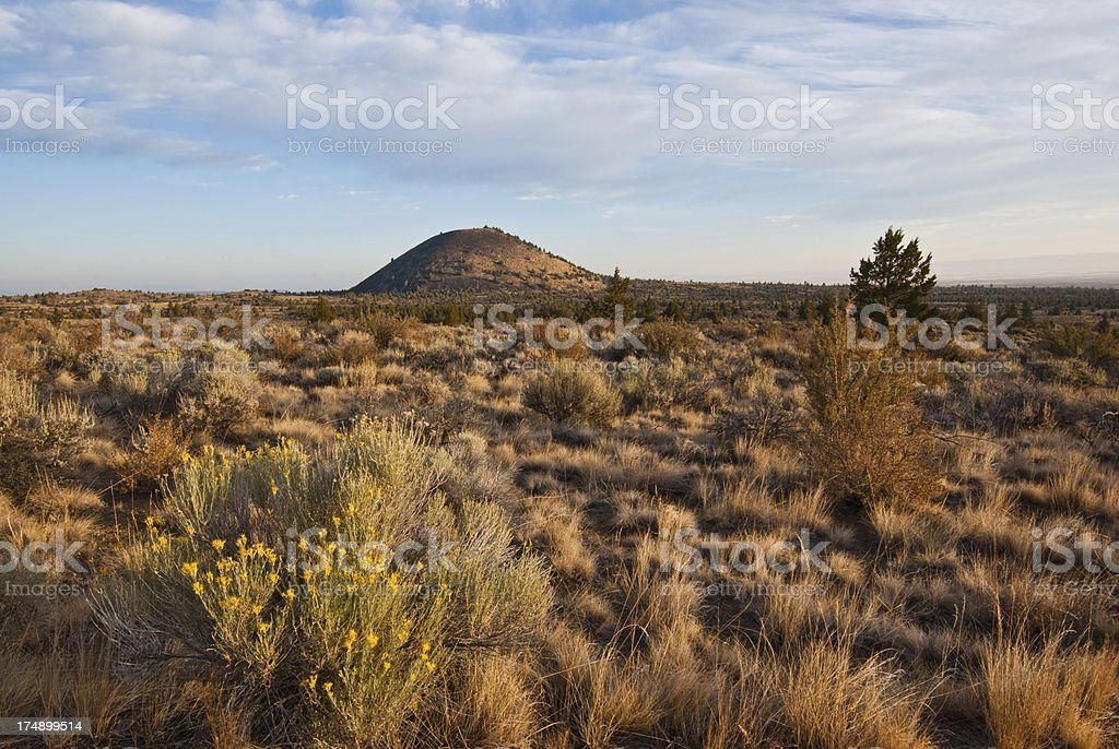 Schonchin Butte in the Early Morning stock photo