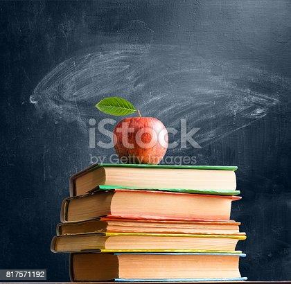 istock School accessories against blackboard 817571192