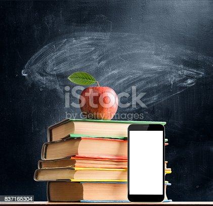 istock School accessories against blackboard 837165304