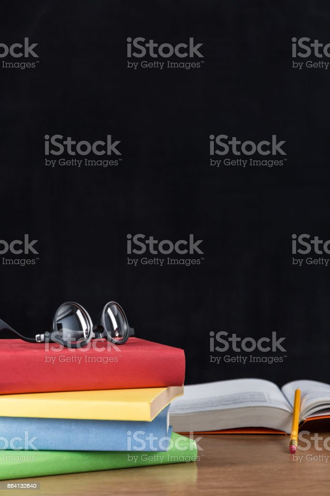 School accessories on the desk royalty-free stock photo