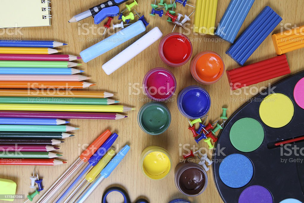 School accessories royalty-free stock photo