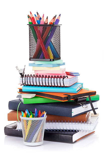 School and office supplies stock photo