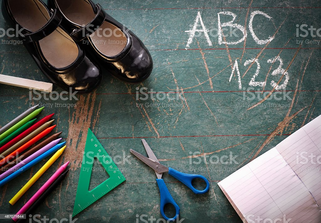 School Background stock photo