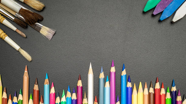 School background school stationery with colorful pencils chalk on picture id1266901542?b=1&k=6&m=1266901542&s=612x612&w=0&h=ucj77vtx gfbojfcvuyzjhcn4yfofg8jgw6c9exrsta=