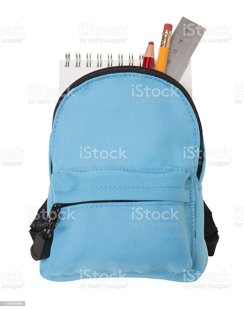 school backpack stock photo