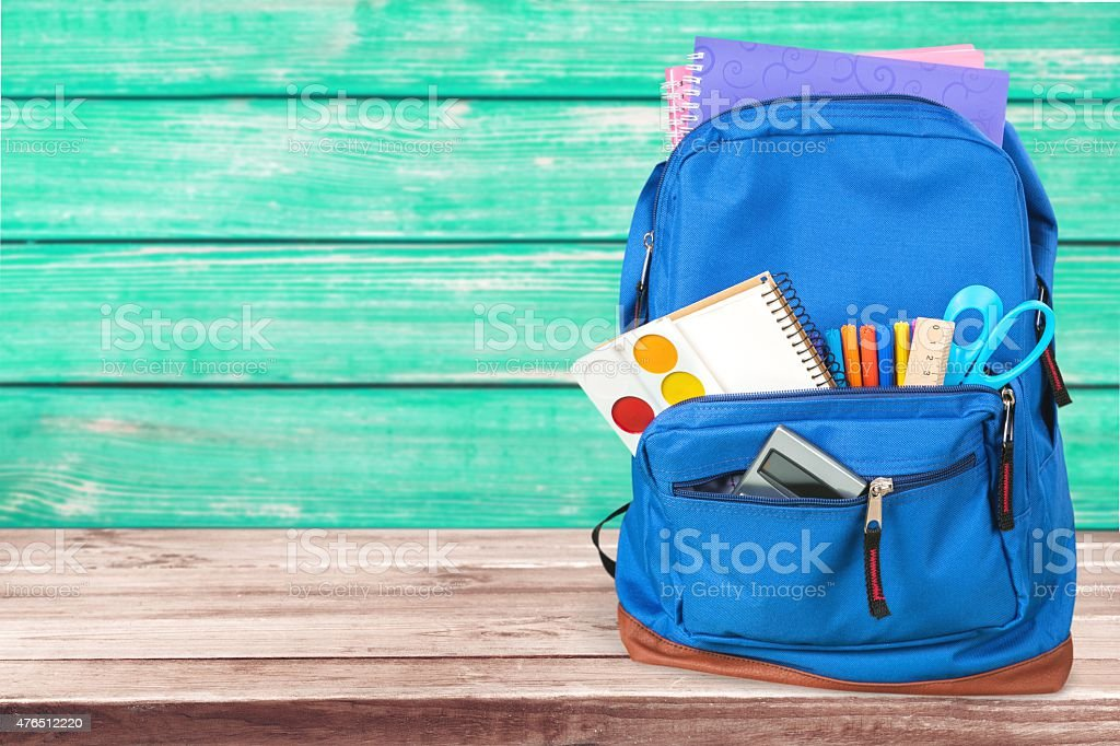 School, bag, backpack stock photo
