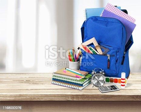 School bag school table backpack bag pack back