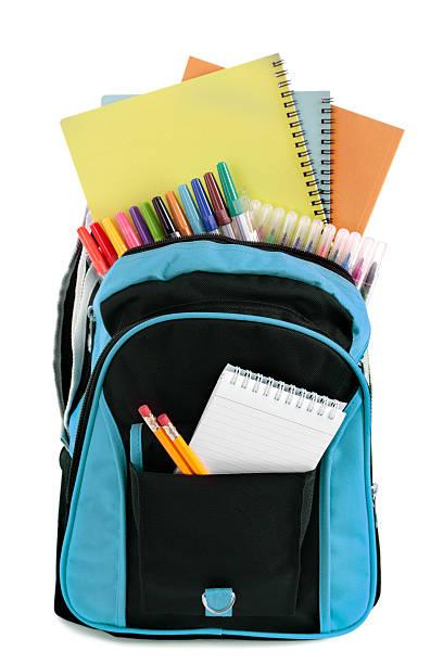 borsa scuola - cartella scolastica foto e immagini stock