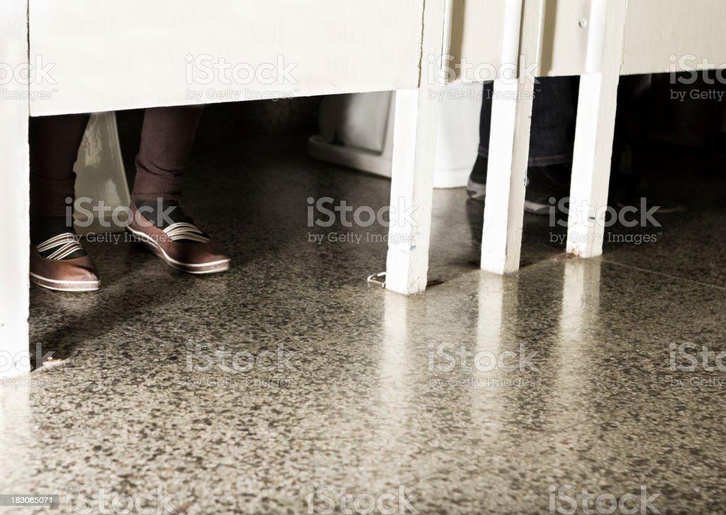 School Bathroom stock photo