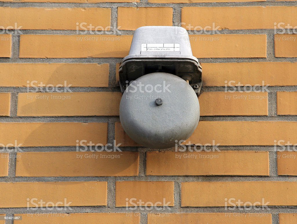 School bell stock photo