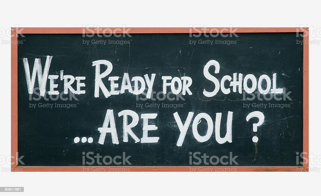 School blackboard sign stock photo