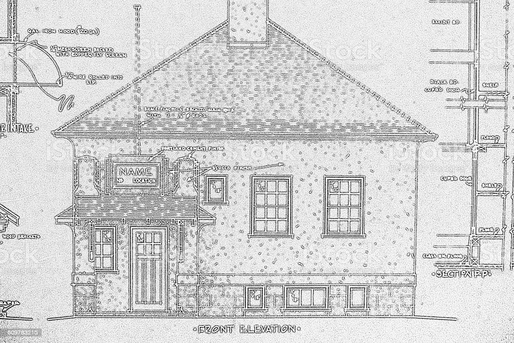 School 'Blueprint' 1938 stock photo