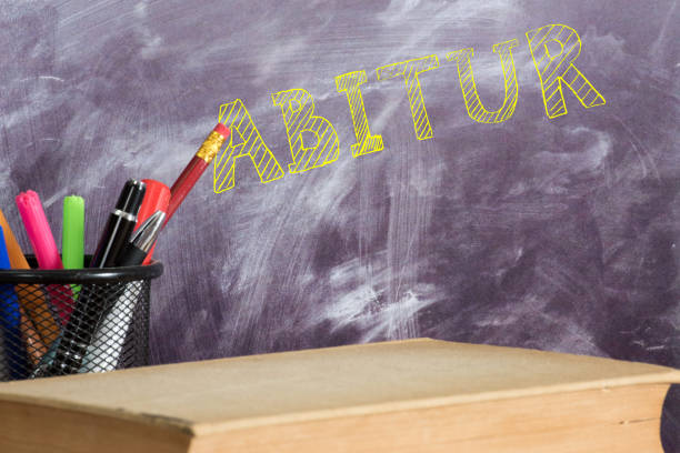 school, board and the abitur - esame maturità foto e immagini stock
