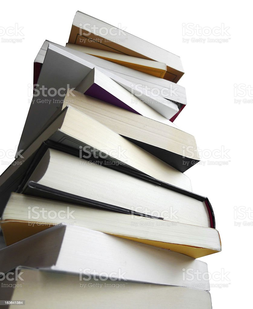 School Books Stack stock photo