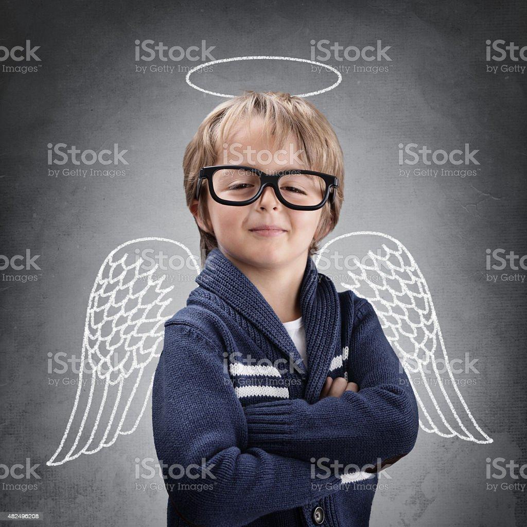 Schule junge Engel mit Flügel und Heiligenschein – Foto