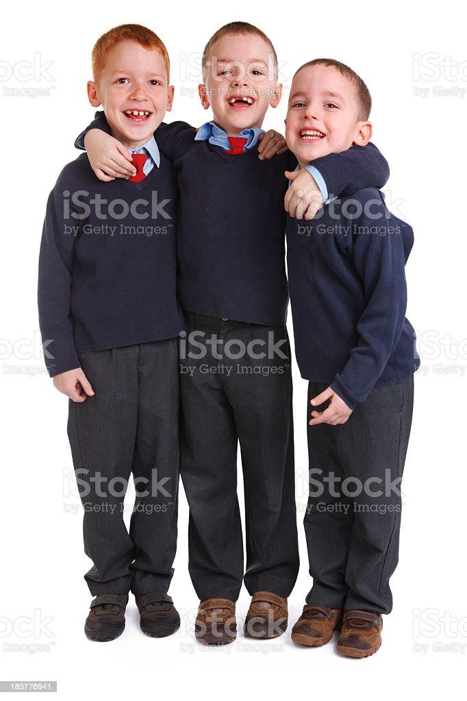 School boys in uniforms stock photo