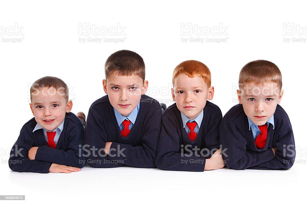 School boys in uniforms royalty-free stock photo