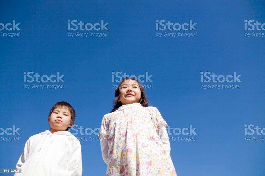 學校男孩 免版稅 stock photo