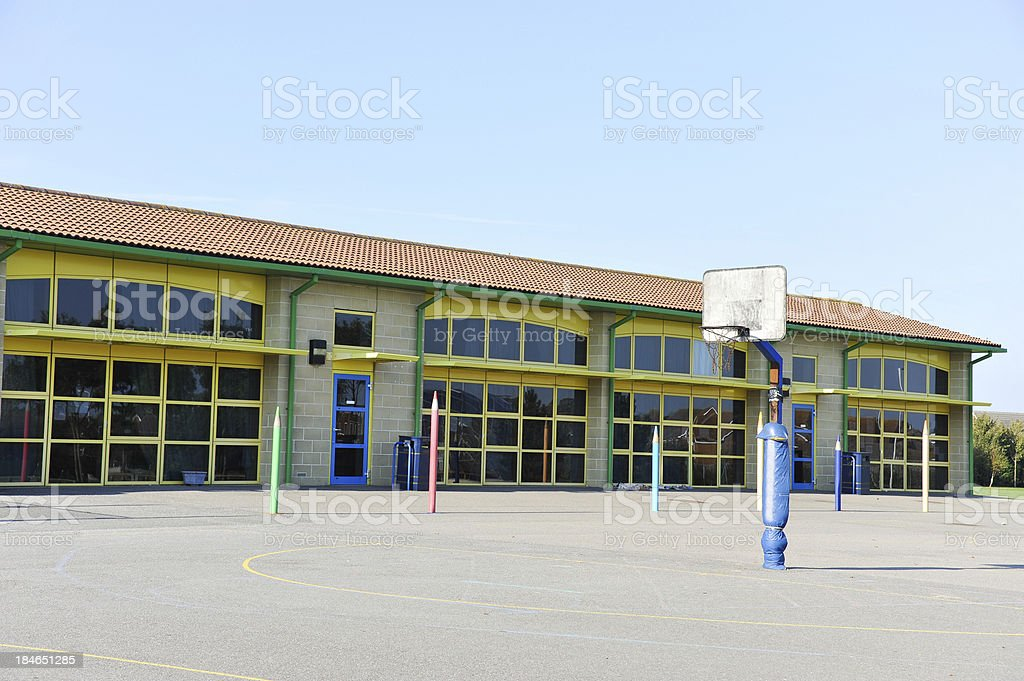 School Building And Playground Stock Photo More Pictures Of Building Exterior Istock