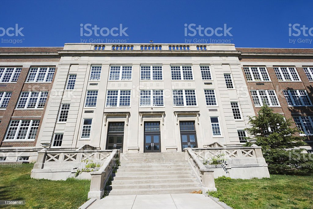 School Building Front Entrance royalty-free stock photo