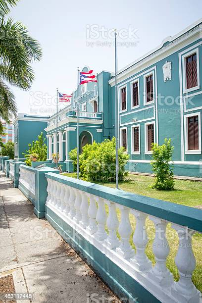 School building in old San Juan, Puerto Rico