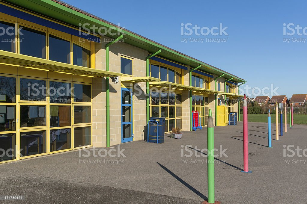 School building, UK infant/junior 5-11years stock photo