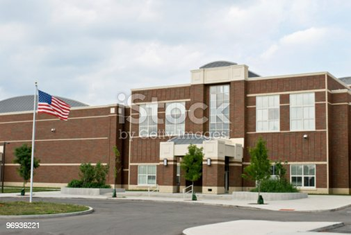 istock School Building with Flag 96936221