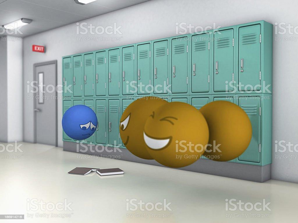 school bully royalty-free stock photo