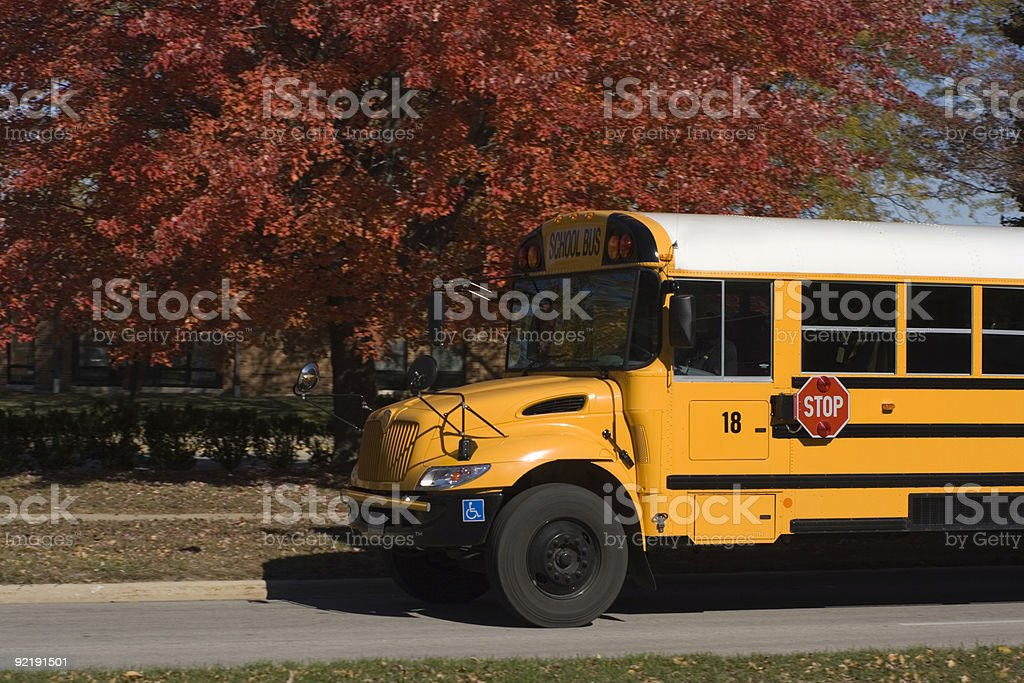 School Bus and fall colors royalty-free stock photo