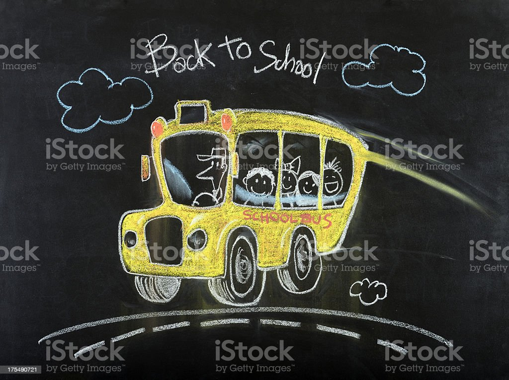 School Bus Drawing royalty-free stock photo