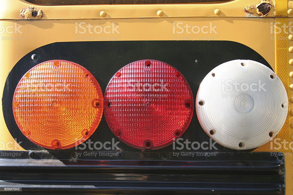 school bus flasher royalty-free stock photo