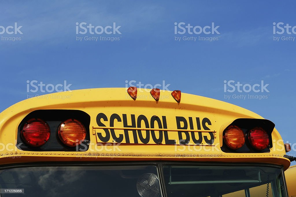 School bus front royalty-free stock photo